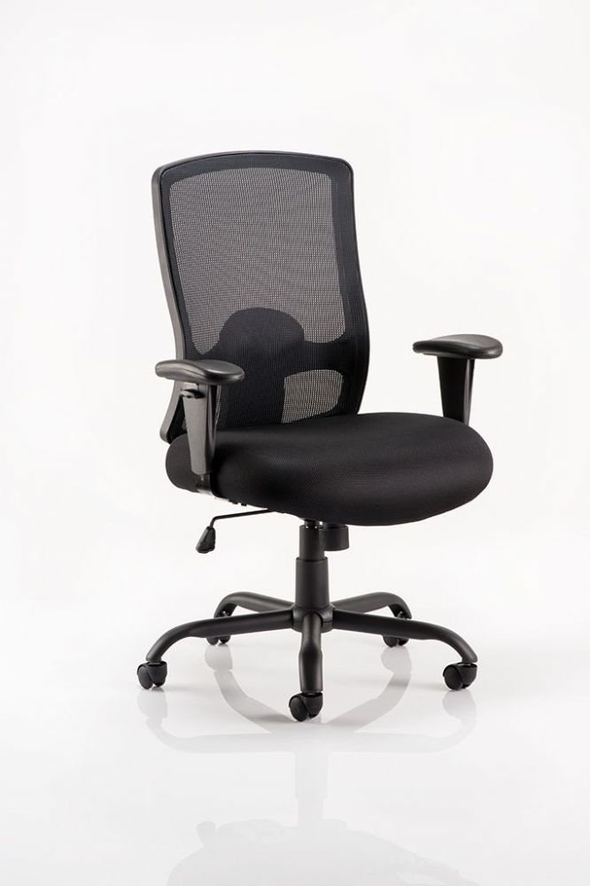 Portland Heavy Duty 24 Hr Chair  Task Operator Chair Mesh Back Adjustable Arms Various Seat Colours